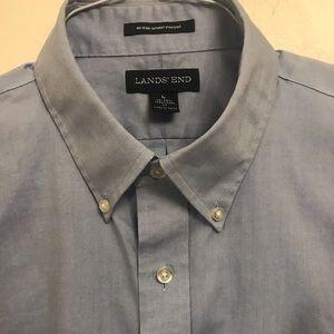 Lands end men's button down shirt
